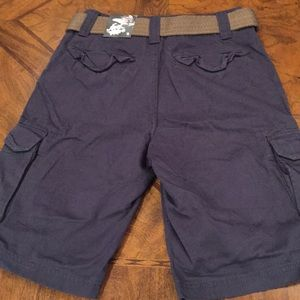 First Wave Bottoms - Boys First Wave Cargo Shorts Navy BNWT